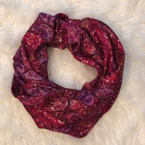 NWT Ann Taylor Bright Pink Patterned Scarf. 24x72""